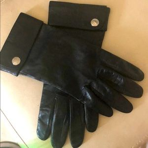 Coach black leather women's gloves size 7